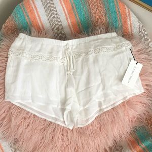 Cotton candy LA white shorts